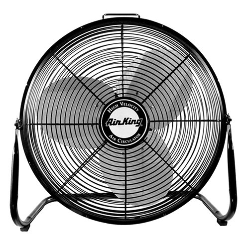 "Air King 9218 18"" 1/6 HP Industrial Grade High Velocity Pivoting Floor Fan"