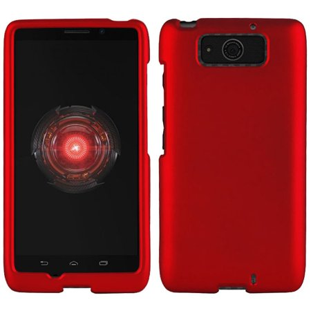 separation shoes bdb46 7091c Droid Maxx Case, Red Rubberized Hard Shell Cover for Verizon Motorola Droid  Maxx XT1080M, Droid Ultra XT1080