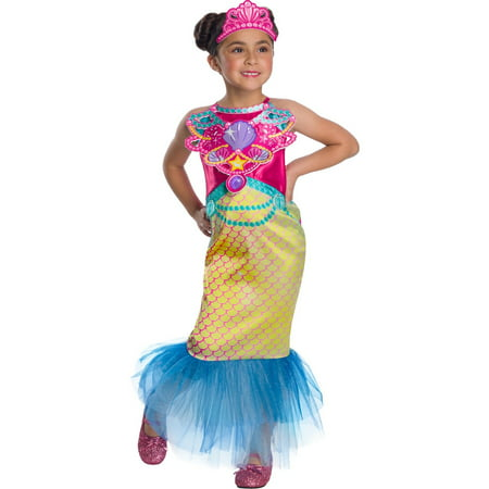 Girls Barbie Mermaid Halloween Costume - Barbie Ideas For Costumes