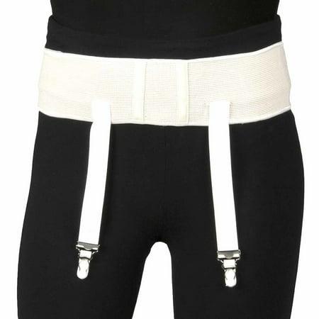 Truform Garter Belt for Compression Stockings, White, Medium