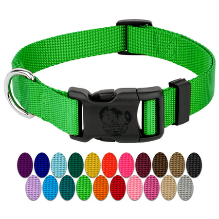 Country Brook Petz | Vibrant 23 Color Selection | Deluxe Nylon Dog Collar (Large, 1 Inch Wide)