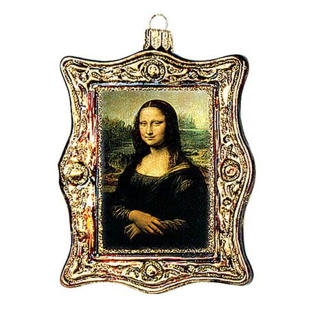 Mona Lisa Painting Leonardo Da Vinci Polish Glass Christmas Ornament Decoration - Painting Christmas Ornaments