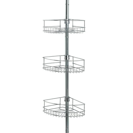 Shower Shell - Mainstays Tension Pole Shower Caddy, Chrome