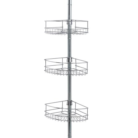 Family Shower Caddy (Mainstays Tension Pole Shower Caddy, Chrome )