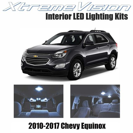 XtremeVision LED for Chevrolet Equinox 2010-2017 (4 Pieces) Cool White Premium Interior LED Kit Package + Installation Tool
