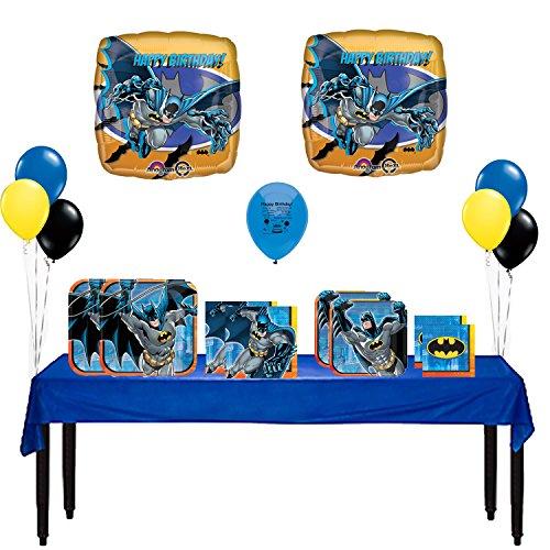 Batman Party Supply and Balloon Decoration Bundle 59 Pieces