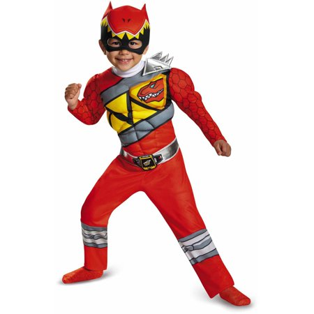 Red Power Ranger Dino Charge Toddler Muscle Dress Up / Halloween Costume - Red Tutu Spirit Halloween