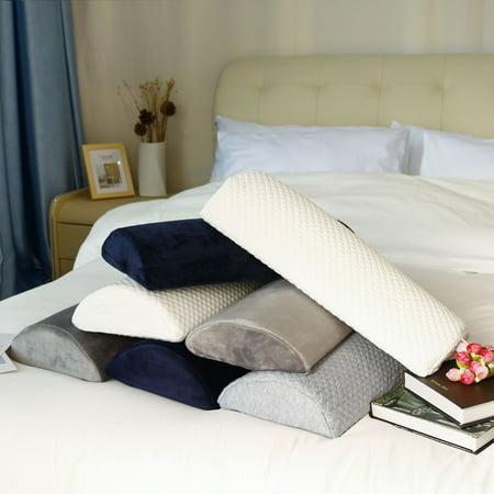 Memory Foam Roll Body Pillow Bolster, Semi-Roll, , Neck, Back, Leg, Knee,With Fleece Cover,Half-Moon