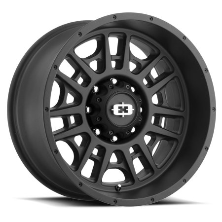 "20"" Vision 418 Widow Black Wheel 20x10 8x180 -25mm Chevy GMC Sierra 8 Lug Truck"