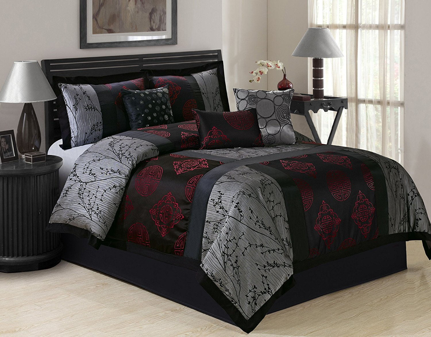 unique home shangrula 7 piece comforter bed in a bag