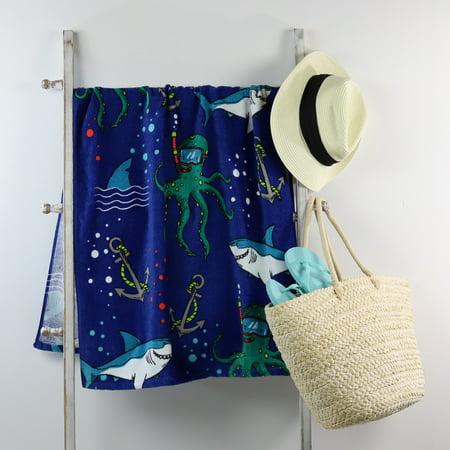 Mainstays Beach Towel, Shark Print