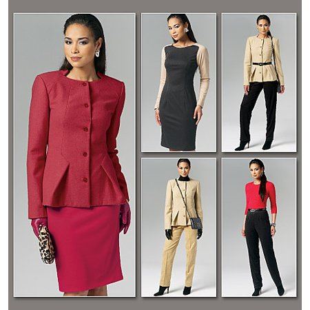(Vogue Pattern Misses' Jacket, Dress, Skirt and Pants, DD (12, 14, 16, 18))