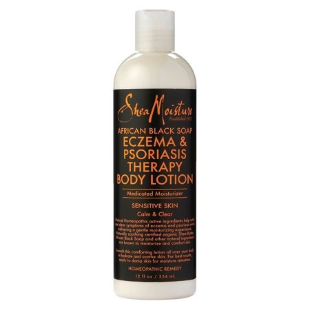SheaMoisture African Black Soap Eczema & Psoriasis Therapy Body Lotion, 12