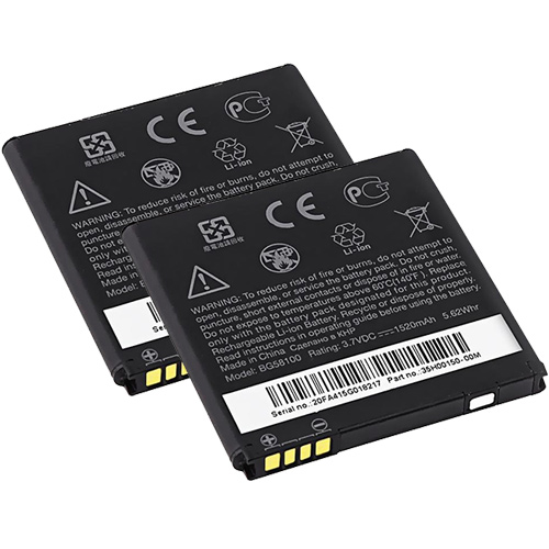 Replacement Battery ForHTC BG58100 (2 Pack)
