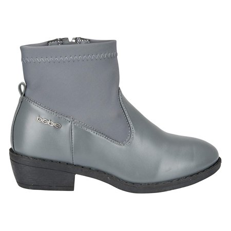 bebe Girls Bootie Size 11 with Neoprene Shaft Casual Dress Fashion Shoes Grey