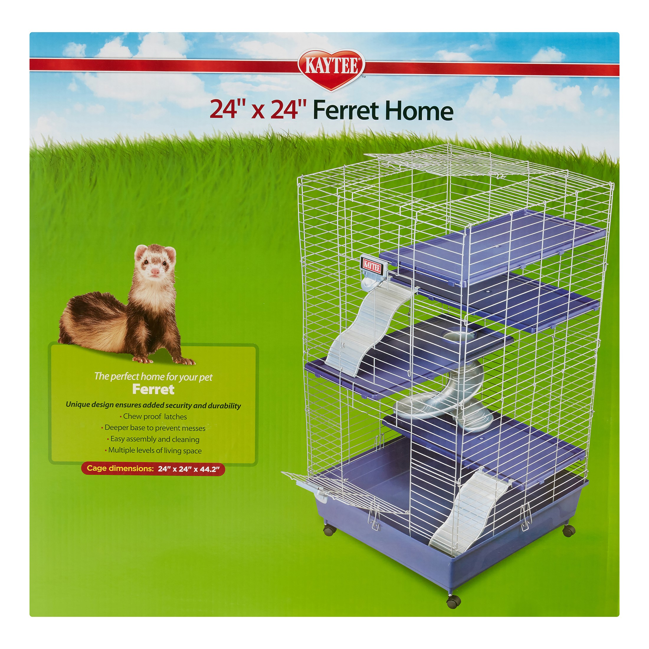 "Kaytee Ferret Home Plus Small Animal Cage, 24"" x 24"""