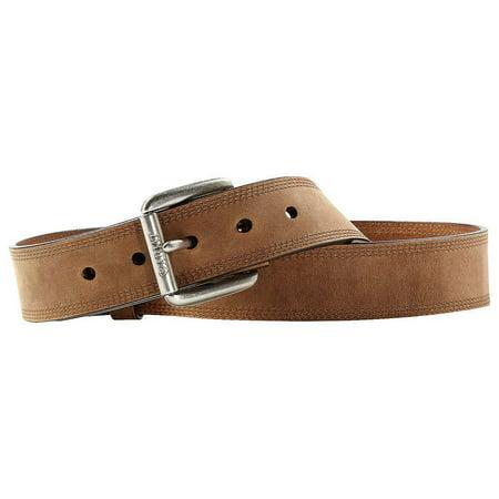 Ariat Accessories Men's Triple Row Stitch Belt BROWN 44 Ariat Mens Work Belt