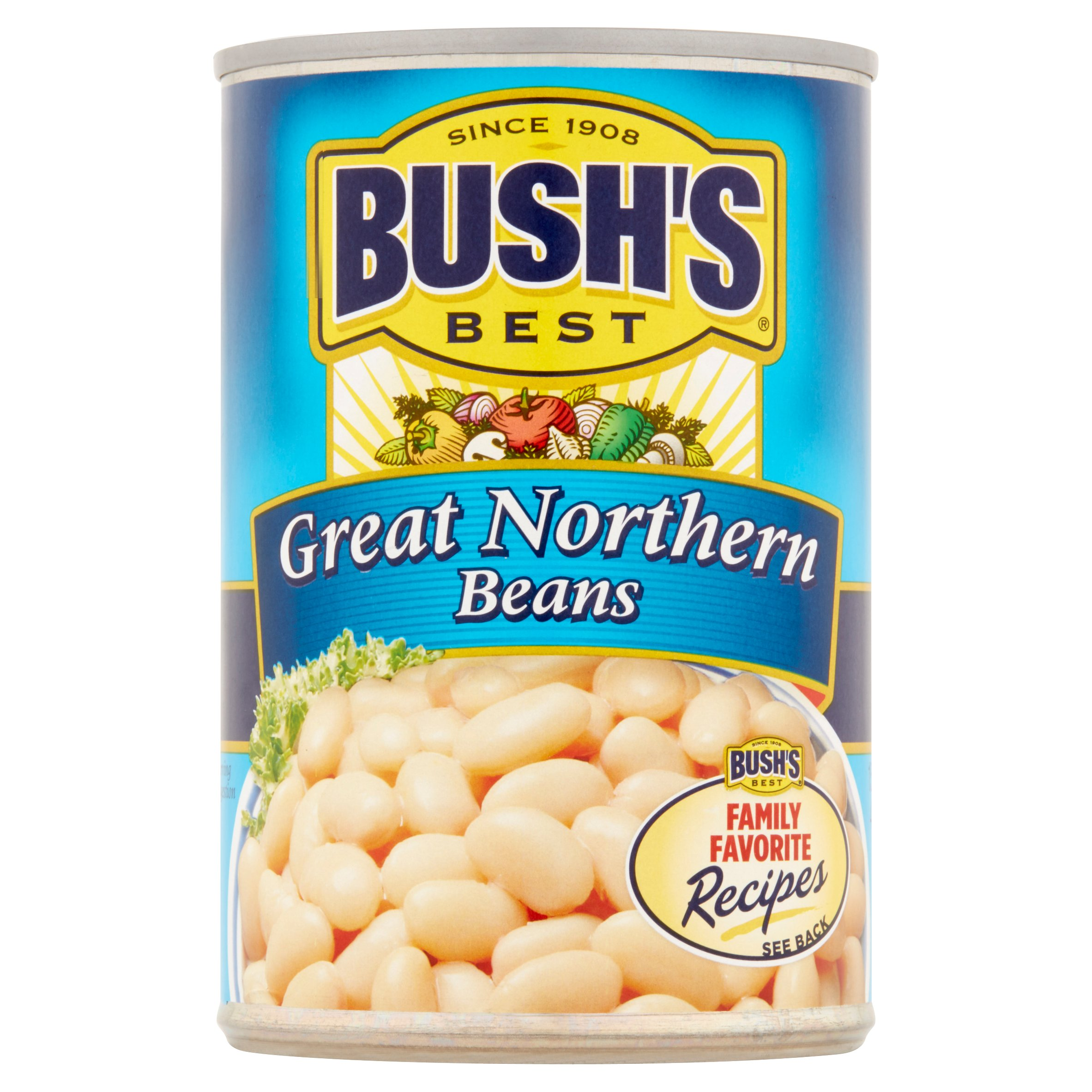 BUSH'S BEST Great Northern Beans, 15.8 OZ by Bush Brothers & Company
