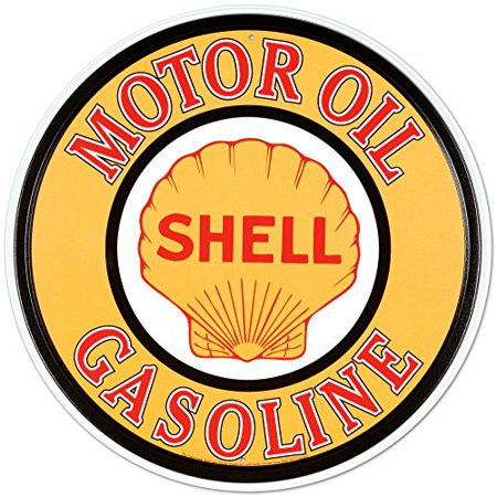 Shell Gas & Oil Tin Sign 12 x - Sign Gas Oil
