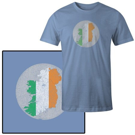 Country Flags T-shirt - Men's Ireland Country with Flag Colors T-Shirt