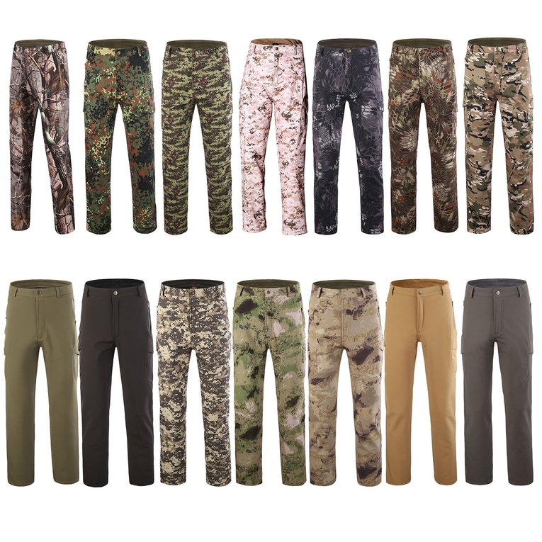 Tactical Waterproof Soft Shell Pants Men Windproof Military Trouser Shark Skin by