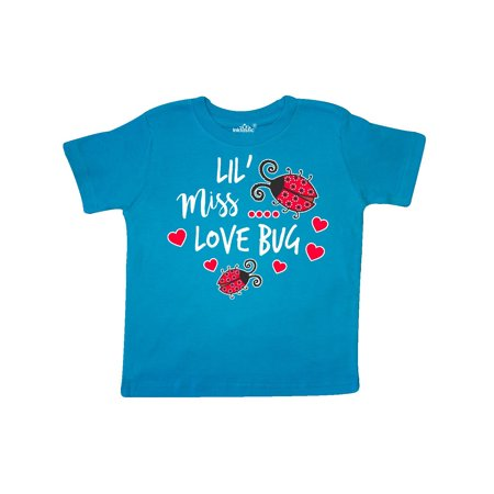 Lil Miss Love Bug with Lady Bug and Hearts Toddler T-Shirt