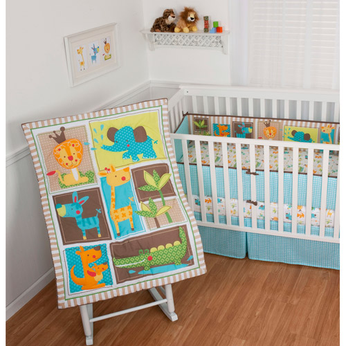 "Sumersault ""King of the Jungle"" 4-Piece Crib Set"