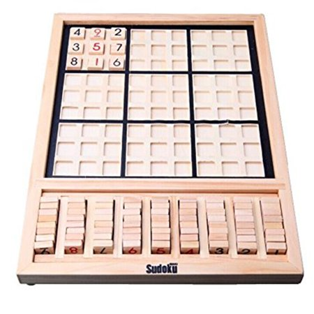 Children Educational Logic Thinking Wooden Number Board Sudoku Puzzle Toy