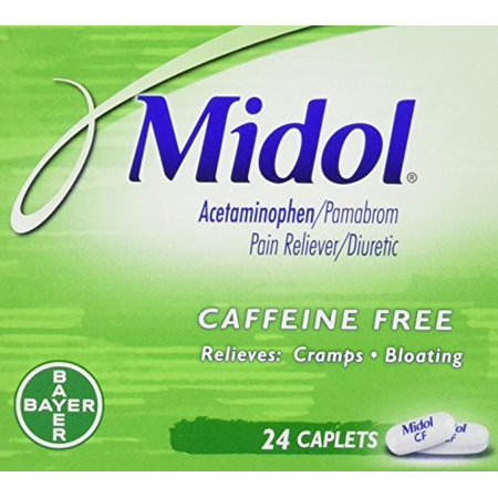 3 Pack Midol Menstrual Pain, Cramp, & Bloating Relief 24 Caplets (Best Medicine For Cramps And Bloating)