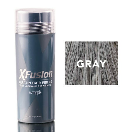 Xfusion Hair Fiber - XFusion Gray Keratin Hair Fibers (Size : 0.98 oz)