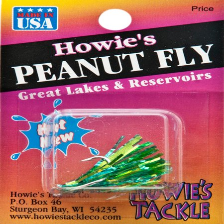 Howies Tackle Peanut Fly Fishing Lure Aqua Chartreuse   20021