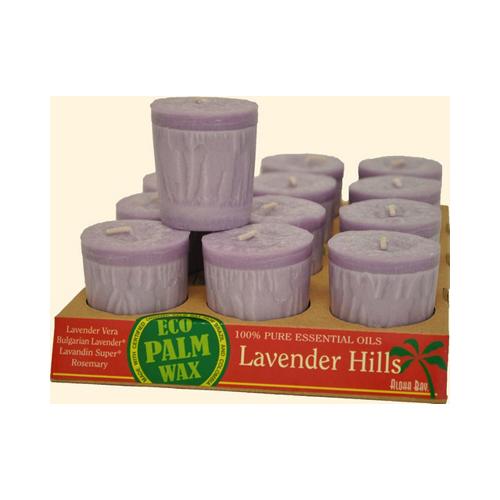 Aloha Bay Votive Eco Palm Wax Candle - Lavender Hills - Case of 12 - 2 oz