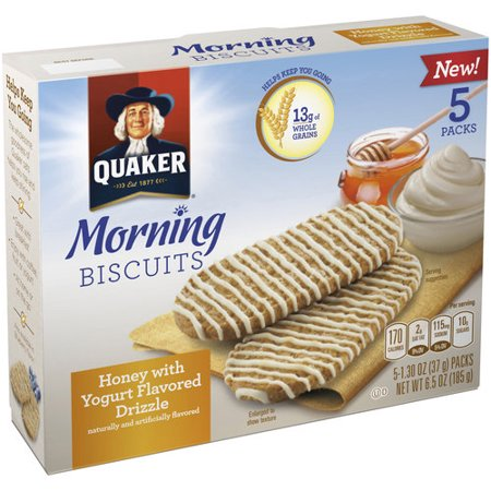 Quaker Honey Morning Biscuits, 1.30 oz, 5 count