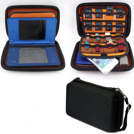TSV Protective EVA Hard Carrying Skin Case Bag Pouch for New Nintendo 3DS XL LL (Black)