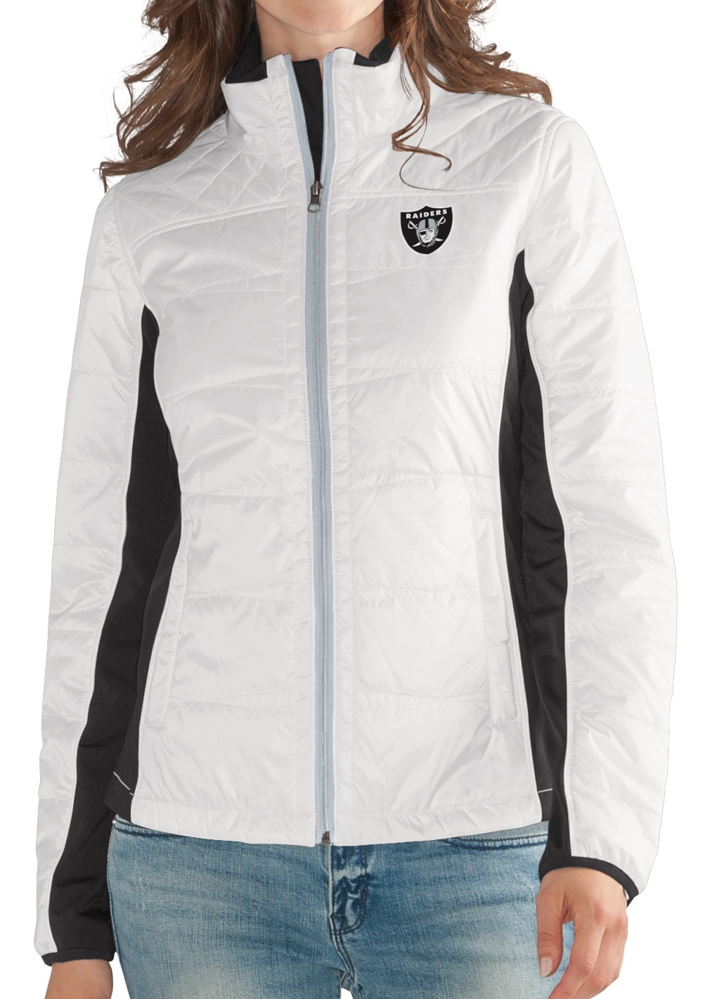 "Oakland Raiders Women's NFL G-III ""Fullback"" Full Zip Quilted Jacket by G-III Sports"