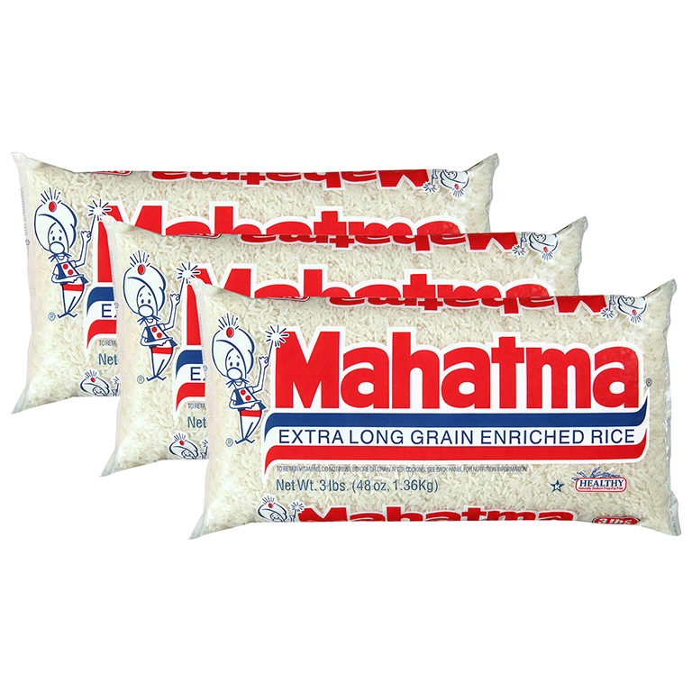 Mahatma Extra Long Grain Enriched Rice 3 Lb Bag (3 Packs)