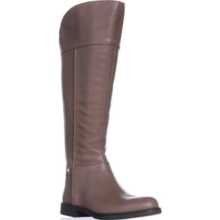 Womens Franco Sarto Christine Wide Calf Riding Boots, Taupe Leather