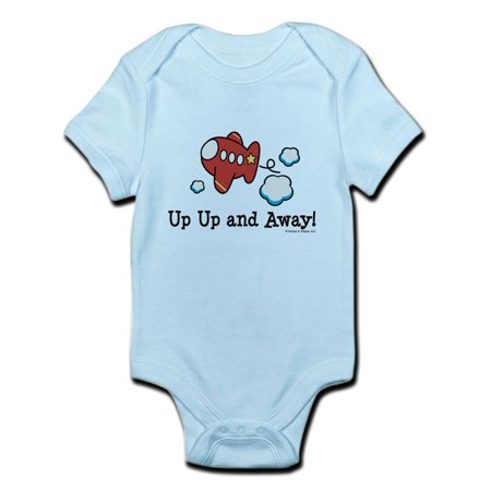 Light Up Body Suit (CafePress - Up Up And Away Airplane Infant Bodysuit - Baby Light)