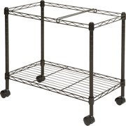 Lorell Mobile File Cart, Black