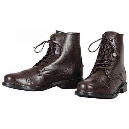 TuffRider Women's Starter Lace Up Laced Paddock Boots, Mocha, - Lace Up Paddock Boot