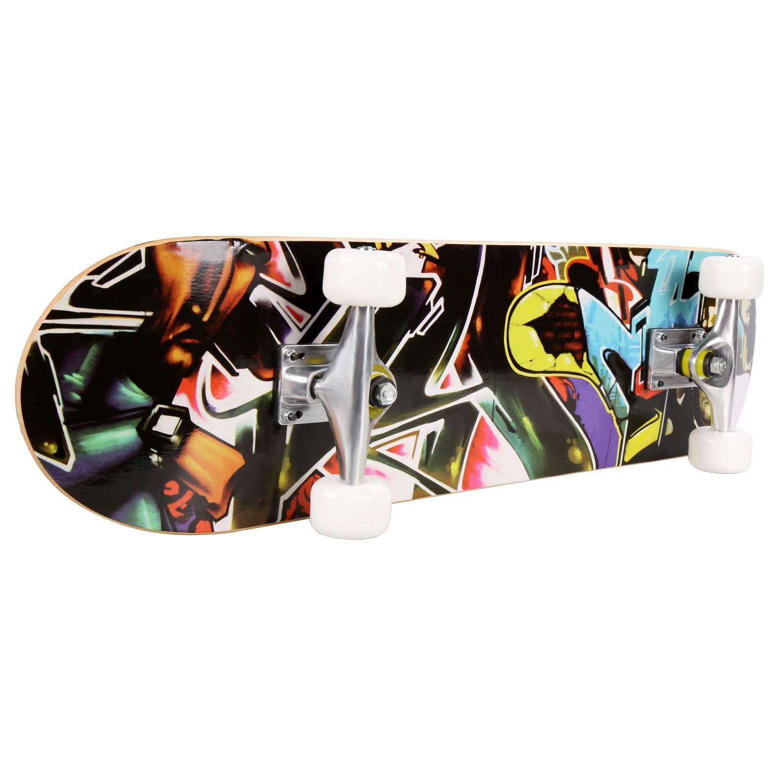 """PRO Print Wood board 30.6"""" PU wheels Longboard Complete Deck Skateboard CCGE by"""