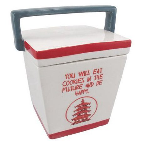 Chinese Take-Out Box Ceramic Cookie Jar Fortune by Things2Die4 (Ceramic Apple Cookie Jar)