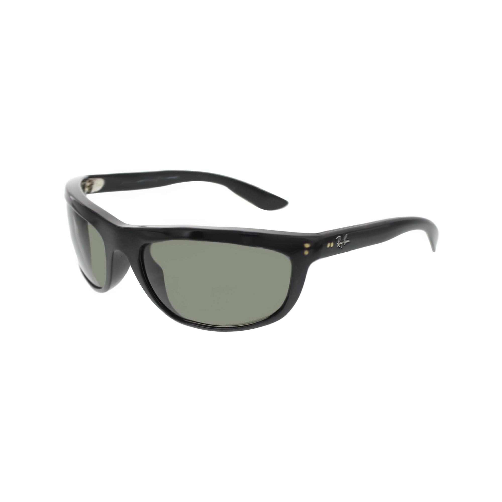3b5043866d Ray-Ban Men s Polarized Balorama RB4089-601 58-62 Black Rectangle Sunglasses