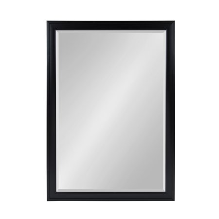 DesignOvation - Bosc Large Framed Rectangle Wall Mirror, 27.5 x 39.5 Black ()