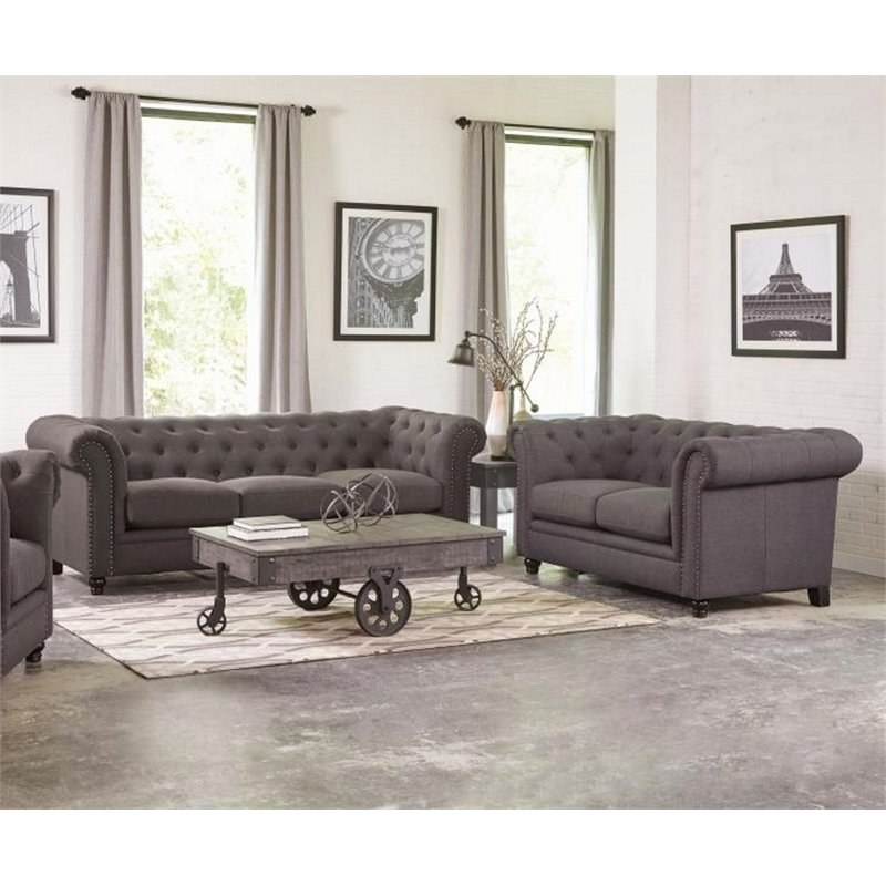 frady 2 pc black and red faux leather modern living room sof