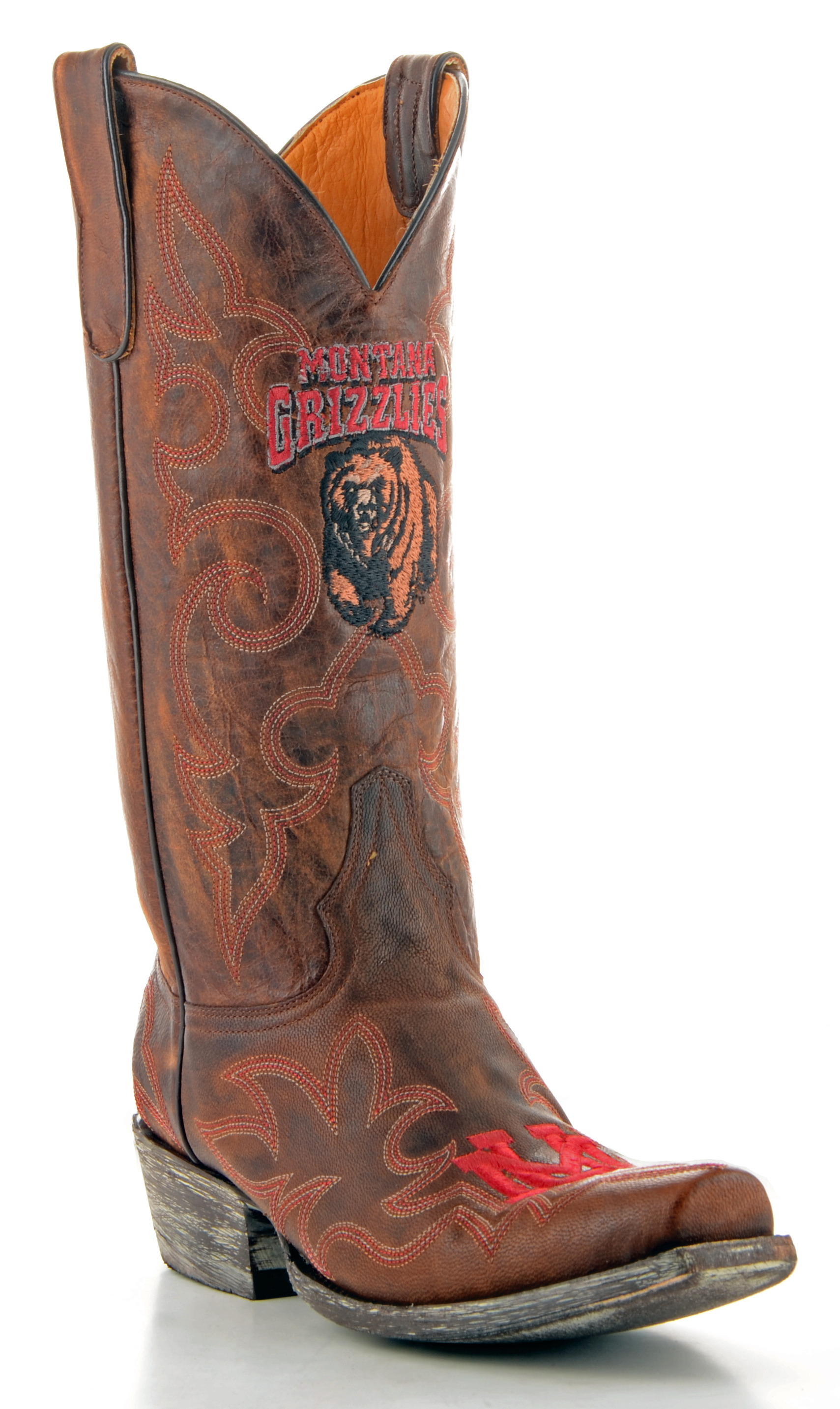 Gameday Boots Mens Leather Montana Cowboy Boots by GameDay Boots