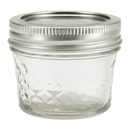 (Kerr Quilted Crystal Mason Jar w/Lid & Band, Regular Mouth, 4 Ounces, 12 Count)
