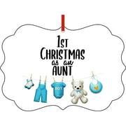 Ornaments Baby Ornament 1st Christmas as an Aunt Ornament Christmas Décor