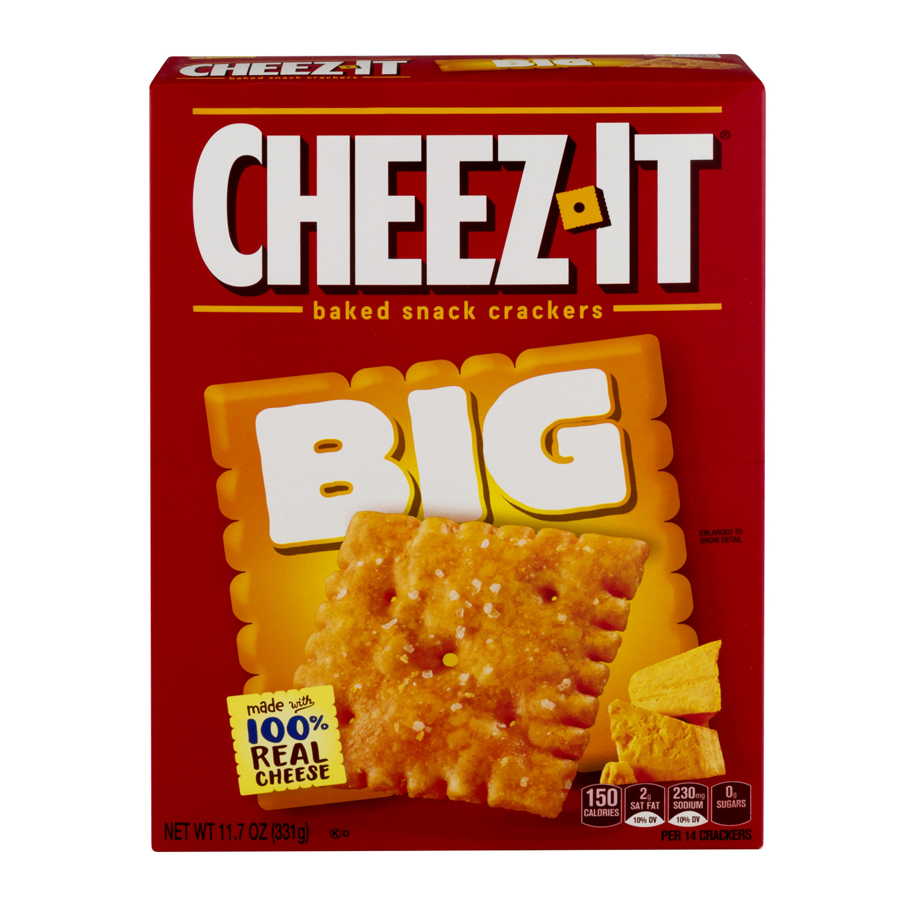Cheez-It Baked Snack Crackers Big, 11.7 OZ by Kellogg Company