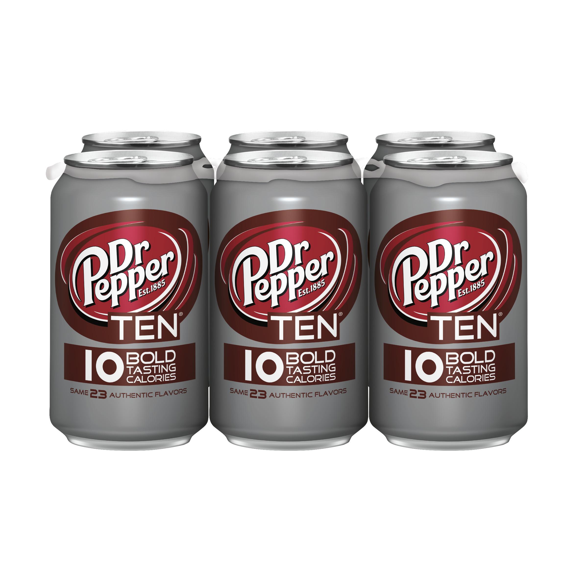 Dr Pepper TEN, 12 fl oz, 6 pack